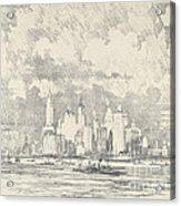 New York From Ellis Island Acrylic Print
