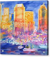 New York Great City Silhouettes.2007 Acrylic Print