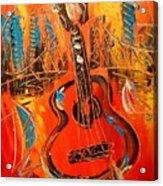 New York Guitar Acrylic Print