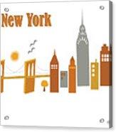 New York Horizontal Scene - Brooklyn Bridge Acrylic Print