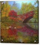 New York In Fall Acrylic Print