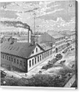 New York: Iron Works, 1876 Acrylic Print