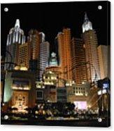 New York Las Vegas Acrylic Print
