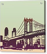 New York Manhattan Bridge Acrylic Print
