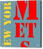 New York Mets Baseball New Typography Acrylic Print