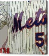 New York Mets Baseball Team And New Typography Acrylic Print
