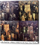 New York Mid Manhattan Medley - Photo Art Poster Acrylic Print