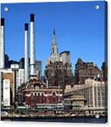 New York Mid Manhattan Skyline Acrylic Print