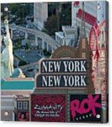 New York New York Strip Acrylic Print by Andy Smy
