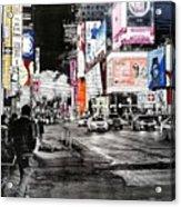 New York Night Life Acrylic Print