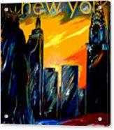 New York Night Skyline Acrylic Print