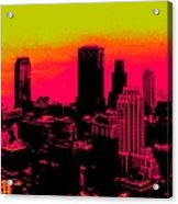 New York Pink Acrylic Print