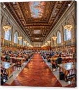 New York Public Library Main Reading Room I Acrylic Print