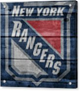 New York Rangers Barn Door Acrylic Print