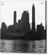 New York Silhouette At Dusk Acrylic Print