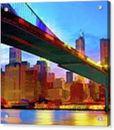 New York Skyline 11 Acrylic Print