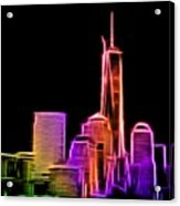 New York Skyline Acrylic Print by Aaron Berg