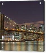 New York Skyline - Brooklyn Bridge - 6 Acrylic Print