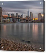 New York Skyline - Brooklyn Bridge - 9 Acrylic Print