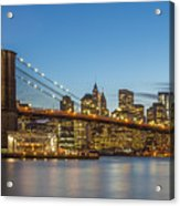New York Skyline - Brooklyn Bridge Acrylic Print