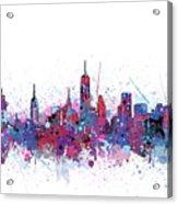New York Skyline Color Splatter Acrylic Print