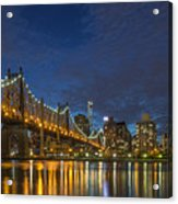 New York Skyline - Queensboro Bridge - 2 Acrylic Print