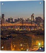 New York Skyline - Queensboro Bridge Acrylic Print