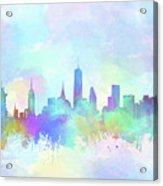 New York Skyline Watercolor 7 Acrylic Print