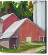 New York State Farm With Silos Acrylic Print