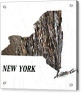 New York State Map Acrylic Print