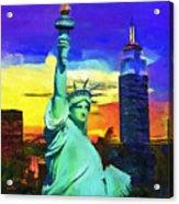 New York Statue Of Liberty Acrylic Print