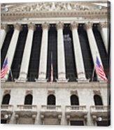 New York Stock Exchange Acrylic Print by Bryan Mullennix
