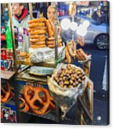 New York Street Vendor Acrylic Print