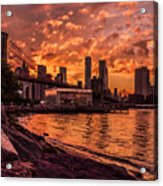 New York Sunset Acrylic Print