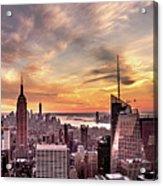New York Sunset Acrylic Print