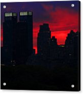 New York Sunset Skyline Acrylic Print