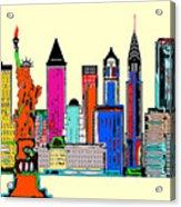 New York - The Big City Acrylic Print