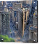 New York Toy Story - Flatiron Building Acrylic Print