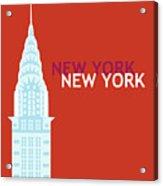 New York Vertical Scene - Chrysler Building Acrylic Print