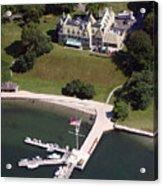 New York Yacht Club Harbour Court 5 Halidon Avenue Newport Ri 02840 3815 Acrylic Print