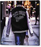 New York Yankees Baseball Jacket Acrylic Print