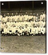 New York Yankees Baseball Team Posed Acrylic Print by Pg Reproductions