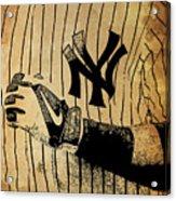 New York Yankees Baseball Team Vintage Card Acrylic Print