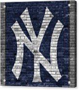 New York Yankees Brick Wall Acrylic Print