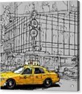 New York Yellow Cab Acrylic Print