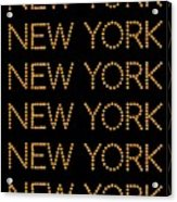 New York No 3  Acrylic Print