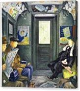 New Yorker Magazine Cover Of A Man Sleeping Acrylic Print