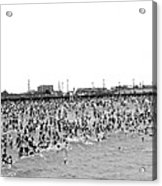 New Yorkers At Coney Island. Acrylic Print