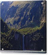 New Zealand Stirling Falls In Hanging Valley Acrylic Print