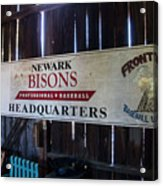 Newark Bisons Acrylic Print